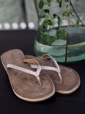 SANDALE SILBER TAUPE